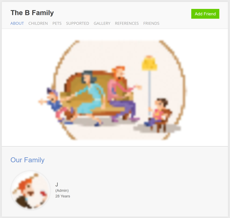 Viewing Family Profile